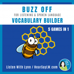 Listening, Language and Vocabulary Builder BUZZ OFF Game