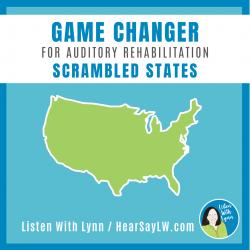 Auditory Rehab - Auditory Training SCRAMBLED STATES Game