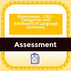 Assessment - CALI - Categories and Attributes of Language Inventory