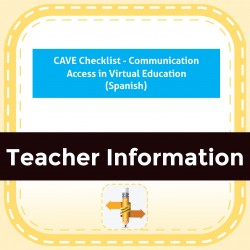 CAVE Checklist - Communication Access in Virtual Education (Spanish)