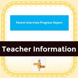 Parent Interview Progress Report