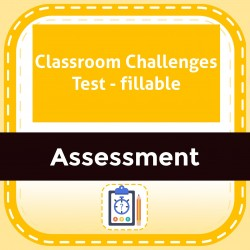 Classroom Challenges Test - fillable