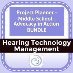 Project Planner - Middle School - Advocacy in Action  BUNDLE
