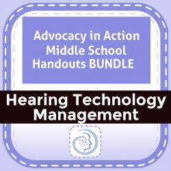 Advocacy in Action Middle School Handouts BUNDLE