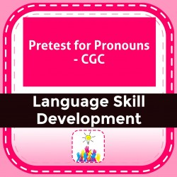 Pretest for Pronouns - CGC