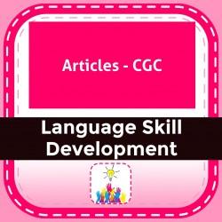 Articles - CGC