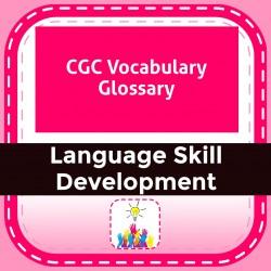 CGC Vocabulary Glossary