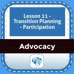 Lesson 11 - Transition Planning - Participation