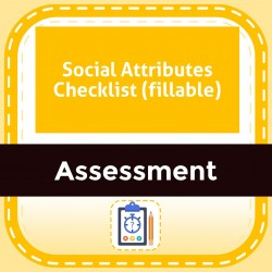 Social Attributes Checklist (fillable)