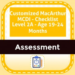 Customized MacArthur MCDI - Checklist Level 2A - Age 19-24 Months