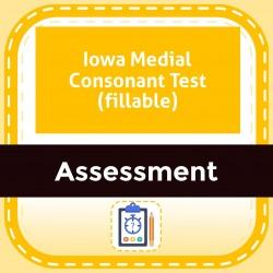 Iowa Medial Consonant Test (fillable)
