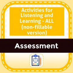 Activities for Listening and Learning - ALL (non-fillable version)
