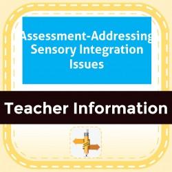 Assessment-Addressing Sensory Integration Issues