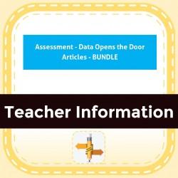 Assessment - Data Opens the Door Articles - BUNDLE