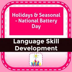 Holidays & Seasonal - National Battery Day
