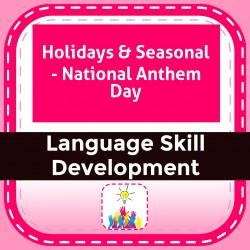 Holidays & Seasonal - National Anthem Day