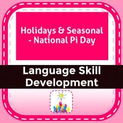 Holidays & Seasonal - National Pi Day