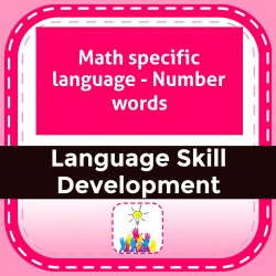 Math specific language - Number words