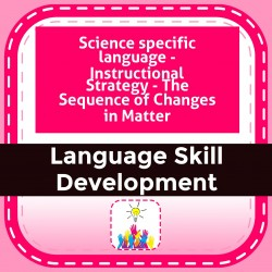 Science specific language - Instructional Strategy - The Sequence of Changes in Matter