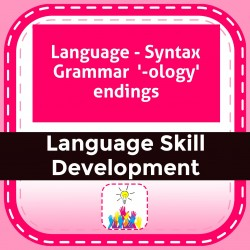 Language - Syntax Grammar  '-ology' endings