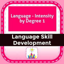 Language - Intensity by Degree 1