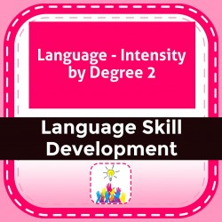 Language - Intensity by Degree 2
