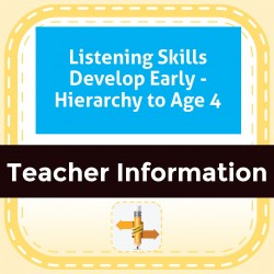 Listening Skills Develop Early - Hierarchy to Age 4