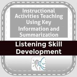 Instructional Activities Teaching Using Key Information and Summarization