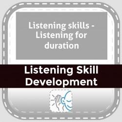 Listening skills - Listening for duration