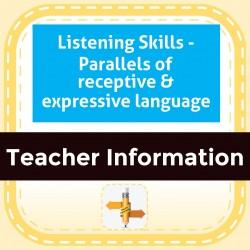 Listening Skills - Parallels of receptive & expressive language