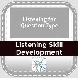 Listening for Question Type