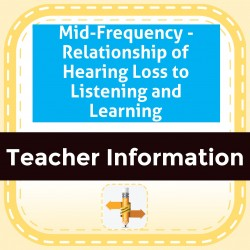 Mid-Frequency - Relationship of Hearing Loss to Listening and Learning