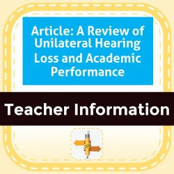 Article: A Review of Unilateral Hearing Loss and Academic Performance