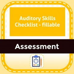 Auditory Skills Checklist - fillable