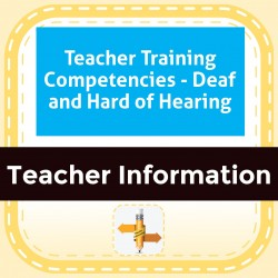 Teacher Training Competencies - Deaf and Hard of Hearing