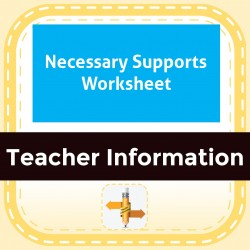 Necessary Supports Worksheet