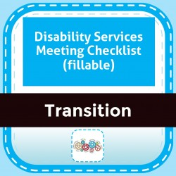Disability Services Meeting Checklist (fillable)