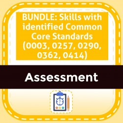BUNDLE: Skills with identified Common Core Standards (0003, 0257, 0290, 0362, 0414)