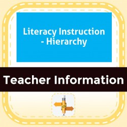 Literacy Instruction - Hierarchy